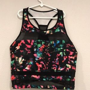 Colorful workout top